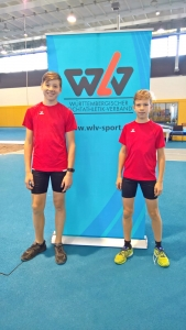 Johannes (li) mit seinem Trainingskameraden Jamie in der Molly-Schauffele-Halle in Stuttgart